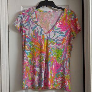 Scuba to Cuba Lilly Pulitzer Michele T shirt